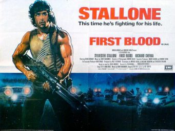acorralado rambo first blood poster