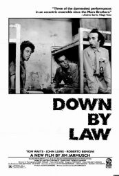 down by law poster jarmusch begnini waits lurie