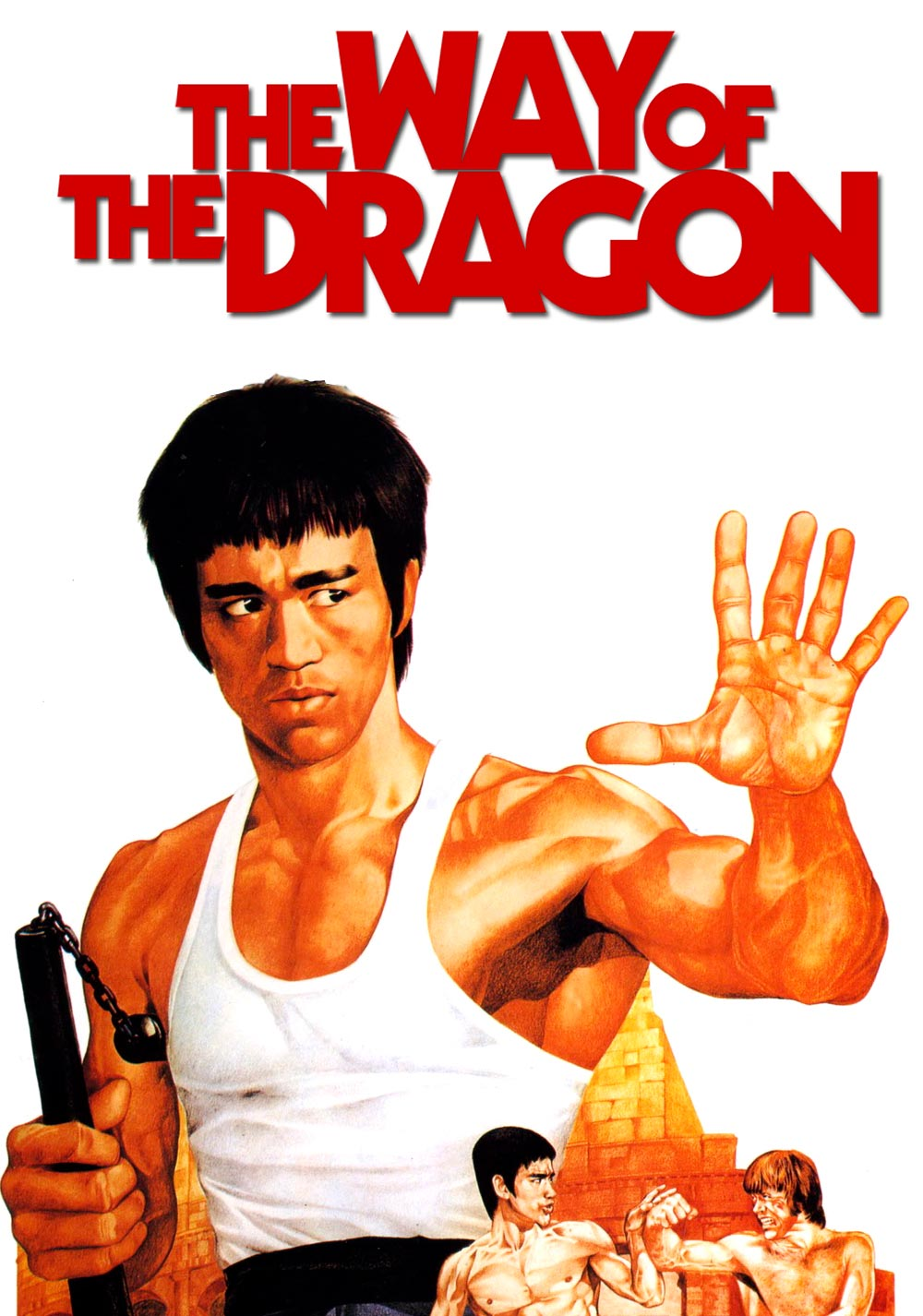 el furor del dragon the way of the dragon poster