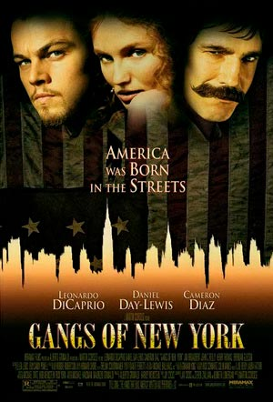 gangs of new york poster películas de Leonardo DiCaprio