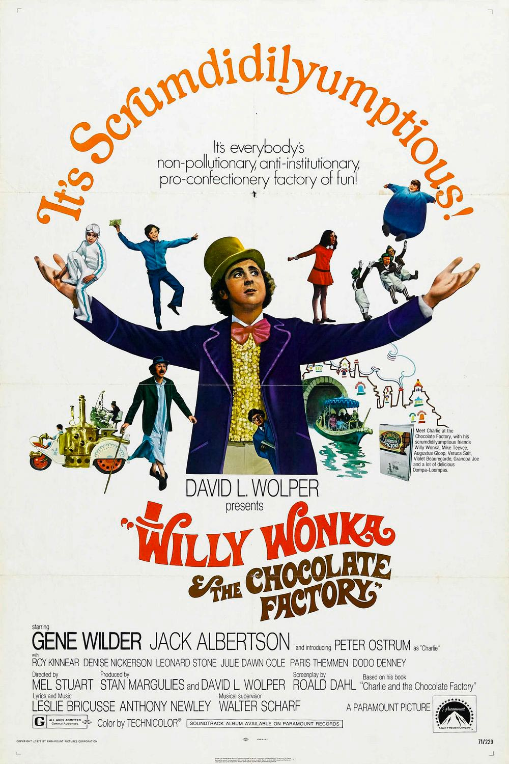 willy wonka un mundo de fantasia poster