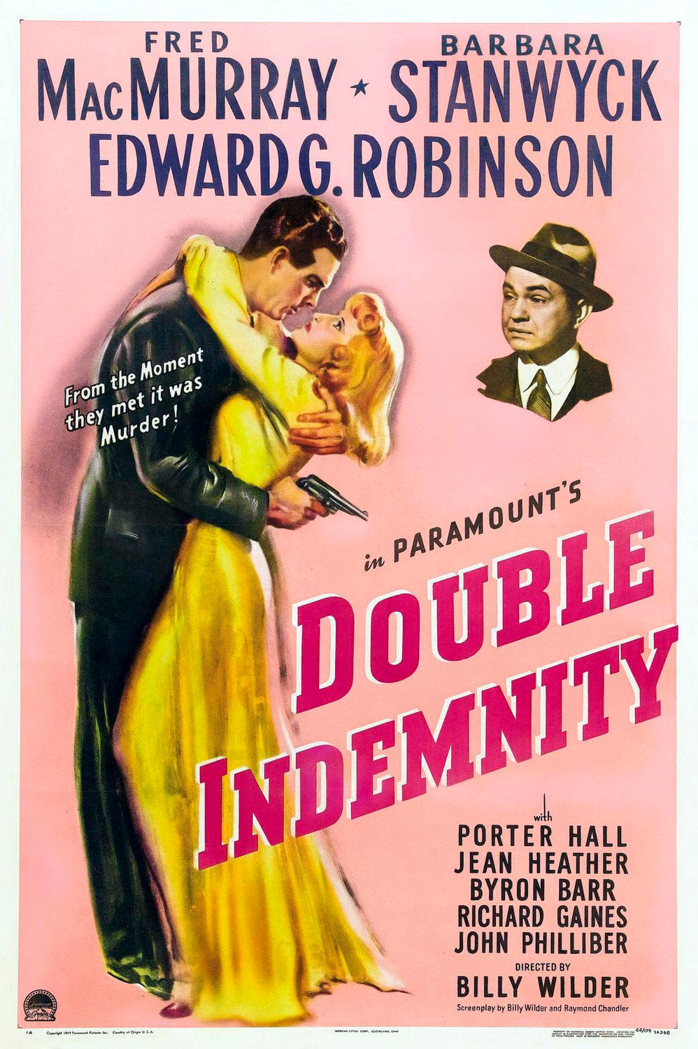 perdicion double indemnity poster
